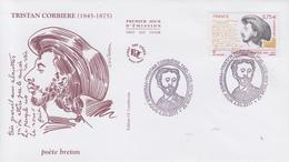 Enveloppe   FDC  1er   Jour   FRANCE   Tristan   CORBIERE     MORLAIX    2011 - 2010-....