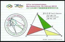 China Hong Kong 2016 The 57th International Mathematical Olympiad SS/Block MNH - Ongebruikt