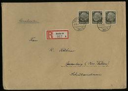 S6600 - DR 30 Pfg Hindenburg MeF Auf R - Briefumschlag über 250 Gramm: Gebraucht Berlin - Spremberg 1943 , Bedarfserha - Deutschland