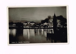 Seehafen. Beleuchtung.Expédié En Feldpost à Kreuz Am Donau. - Lindau A. Bodensee