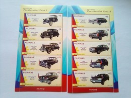 Presidential Cars 2018   Series 1 And Series 2 MNH   Only 4,000 Issued - Philippines
