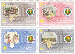 OMAN 1984, Scout 2 Pairs Se Tenant 4v.complete Set MNH- Scarce Set- Reduced Price- SKRILL PAY ONLY - Oman