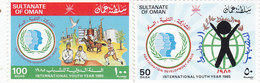 OMAN 1985, Internationla Youth Year 2v.complete Set MNH- Reduced Price- SKRILL PAYMENTONLY - Oman