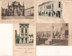 (C).Vicenza.Lotto Di 4 Cartoline.F.to Piccolo.Viaggiate Nel 1902 (c18) - Vicenza