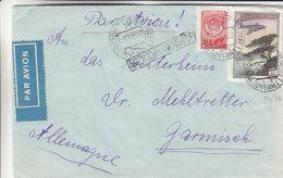 Russie - Lettre De 1955 ? - Oblit Moscou - Exp Vers Garmisch - Avions - Bateaux - 1923-1991 URSS