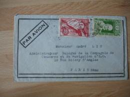 1925 Lettre Indochine Viet Nam  Sports Jeunesse 50 C Et  1 F Yersen - Indochine (1889-1945)