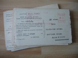 Lot De 30 Carte Ema Empreinte Machine Affranchir Bazar Hotel De Vile , 3 Modele Paris , Ivry Port - Marcophilie (Lettres)