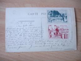 Erinnophilie 2 Vignette Hopital Militaire Bourbonne Les Bains   Cachet Franchise Postale Militaire Guerre 14.18 - Marcophilie (Lettres)
