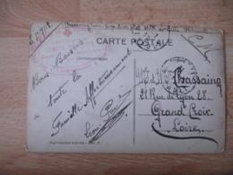 Cette Sete  Hopital Auxiliaire 5 Cachet Franchise Postale Guerre 14.18 - Marcophilie (Lettres)