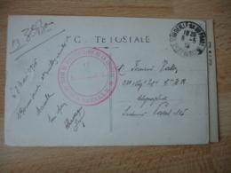 Depot De Physiotherapie De La Loupiere Marseille Cachet Franchise Postale Guerre 14.18 - Marcophilie (Lettres)