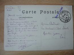 Le Havre Recu Au Guichet  Cachet Franchise Postale Guerre 14.18 - Marcophilie (Lettres)