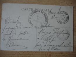 118 Eme Regiment Territorial Detachement Marseillecachet Franchise Postale Guerre 14.18 - Marcophilie (Lettres)