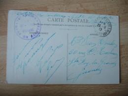 Gare De Saintes Commission Militaire  Cachet Franchise Postale Militaire Guerre 14.18 - Marcophilie (Lettres)