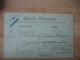 Dieppe Commission Gare   Cachet Franchise Postale Militaire Guerre 14.18 - Marcophilie (Lettres)