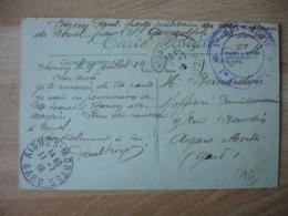 1 Er Bataillon Actif Douane  Cachet Franchise Postale Militaire Guerre 39.45 - Marcophilie (Lettres)