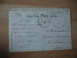 Service Militaire Chemin Fer  Commission Regulateur   Cachet Franchise Postale Militaire Guerre 14.18 - Marcophilie (Lettres)