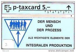 Télécarte SUISSE (2) P-Taxcard LANDIS&GYR Private Phonecard - Schweiz