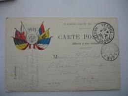 Edi Pochy Carte Correspondance 6 Drapeaux 1915  Bladon R F  Tresor Et Postes 117 Cachet Franchise Postale Militaire - Marcophilie (Lettres)