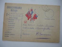 Guerre 14.18  Carte Correspondance At Kz Paris 3 Drapeaux  Franchise Postale - Marcophilie (Lettres)