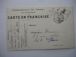 Guerre 14.18  Carte Correspondance  4 Drapeaux Noir Et Blanc Tresor Et Postes 150 - Marcophilie (Lettres)