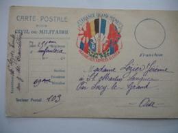 Guerre 14.18  Carte Correspondance  6 Drapeaux  Gloire Aux Armees Allies France Quand Meme - Marcophilie (Lettres)