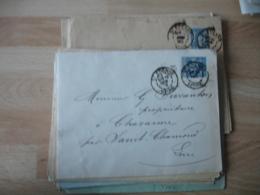 Lot De 16 Saint Etienne Daguin Double Jumele Obliteration Sur Lettre - Poststempel (Briefe)