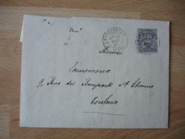 Cachet Type 18   Chateauroux   Obliteration Sur Lettre Timbre Sage - Poststempel (Briefe)