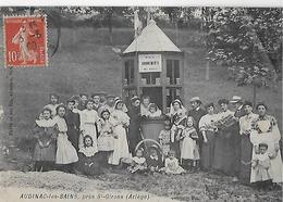 AUDINAC Les BAINS Prés ST GIRONS : Le  Bureau Abonnement Avec Ses Clients ( Belle Photo De Famille )-1909 - Saint Girons