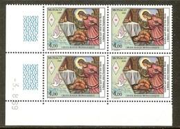 MONACO N°1691** Bloc Coin Daté De 4 Valeurs (3/8/1989) - COTE 9.40 € - Nuovi