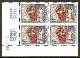 MONACO N°1692** Bloc Coin Daté De 4 Valeurs (21/7/1989) - COTE 12.40 € - Nuovi
