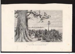 GRAVURE 18X28....paysage Du Zanbeze Tchobé .....réf  040119004 - Documents Historiques