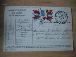 Aurillac A Arvant  26.12.1914 Cachet Ambulant Convoyeur Poste Ferroviaire Carte Correspondance Guerre 14.18 - Poststempel (Briefe)