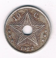 10 CENTIMES 1922 BELGISCH CONGO /0018/ - Congo (Belge) & Ruanda-Urundi