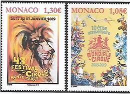 Monaco 2019 - Festival International Du Cirque De Monte-Carlo & Fédération Mondiale Du Cirque ** - Ungebraucht