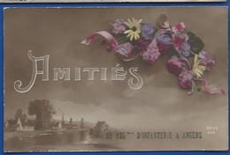 ANGERS    Amitiés Du 135° Régiment D'Infanterie        Animées   écrite En 1916 - Régiments