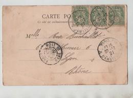 Généalogie Carte Précurseur 1901 Buchaillet Rue Cuvier Lyon Paris Gare St Lazare Hôtel Terminus - Généalogie