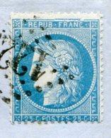 DROME De CREST LAC Du 08/05/1872 Avec N°60 Variété N°9 Oblitéré GC 1222 - 1849-1876: Classic Period