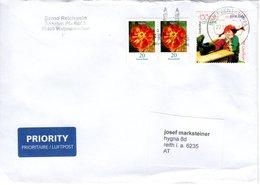 Brief Von Briefzentrum 85 Mit 100 Cent Pippi Langstrumpf + 2 X 20 Cent Blumen 2018 - BRD