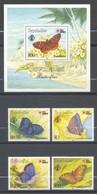 Seychelles, Yvert 743/746+BF37, Scott 725/728+719 , MNH - Seychelles (1976-...)