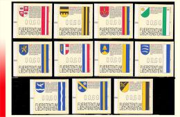 Liechtenstein VI 0001/11** Armoiries Des Villes  MNH - Service