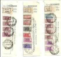 Italia Pacchi Postali, 2^ Parte Sulla Ricevuta, N. 36 Valori Vari Come Da Foto, 1963-1965 - 6. 1946-.. Repubblica