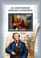 NIGER 2018 - J-S Bach, R. Wagner S/S. Official Issue - Musique