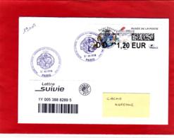 Atm-Lisa / L Verte DD 1,20 € Sur Lettre Suivie Circulée Obl 31/12/18 Dernier Jour Tarif  Saint-Désiré, Musée De La Poste - 2010-... Viñetas De Franqueo Illustradas