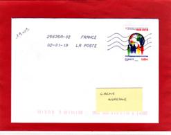 F. 2018  Droit De L'homme 0.88 € Sur Lettre Circulée, Obl 02/01/19, Premier Jour D'utilisation Au Tarif - France
