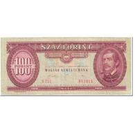 Billet, Hongrie, 100 Forint, 1989, 1989-01-10, KM:171h, TTB - Hongrie