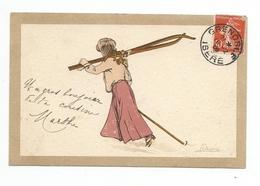 Illustrateur PELLEGRINI édit Vonga & Cie, Genèvre , Suisse. Sport - Numero17 - Künstlerkarten