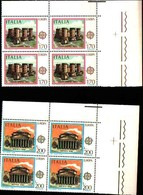 74875) ITALIA-QUARTINA-Europa - 23ª Emissione - 29 Aprile 1978 -MNH**SERIE COMPLETA - 6. 1946-.. Repubblica