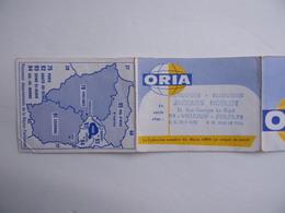 CALENDRIER De Poche 1970 BIJOUX ORIA Jacques NOBLOT Horloger Bijoutier à Villejuif 94 - Calendars