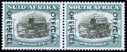 Südafrika 96-97 5 Sh. Dienstmarke Im Seltenen Tadellos Postfrischen Paar 1950 - Afrique Du Sud (...-1961)