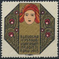 Reklamemarke Vignette Jugendstil Künstler Karel Jaroslav Obrátil Tschechien 1915 - Timbres